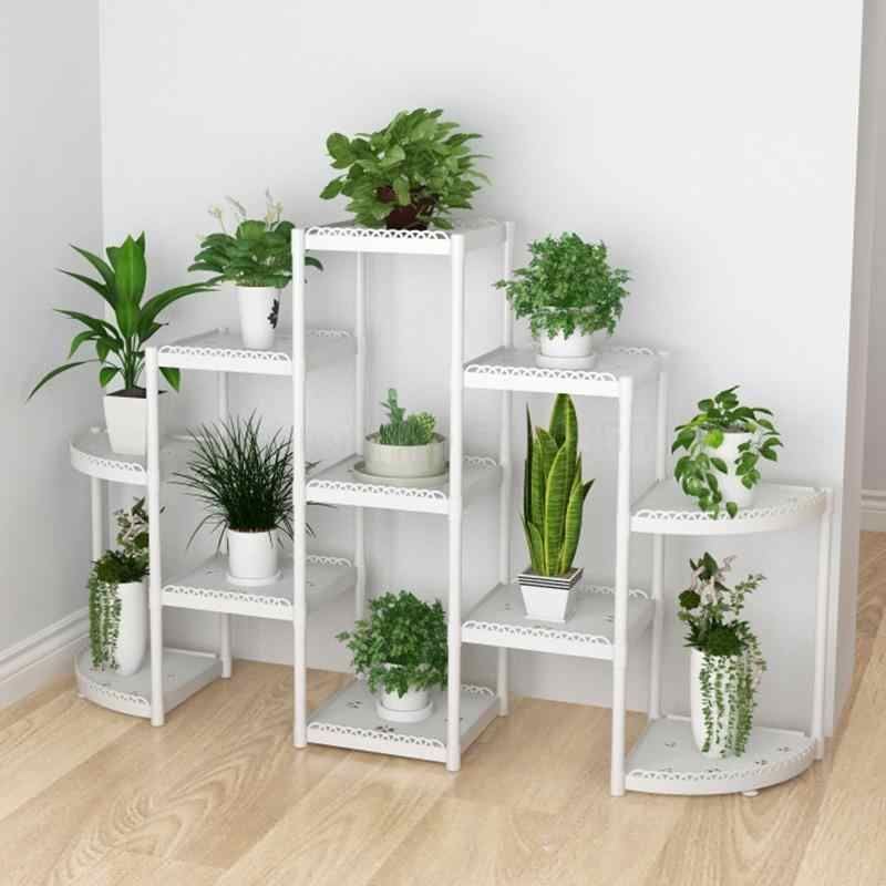 Flower Shelf Home Multi Storey Indoor Space Wrought Iron Flower Stand Multi Layer Living Room Balcony Flowe Flower Stands House Plants Decor Plant Decor Indoor Decorative pots for living room