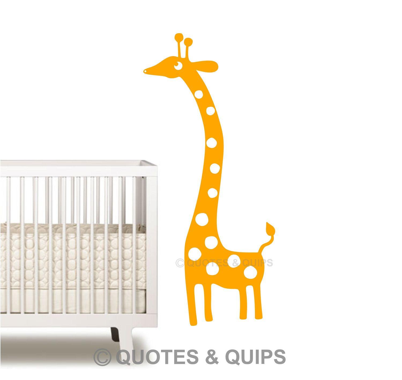 VINYL- Giraffe cartoon (baby/nursery/child/kid decor)
