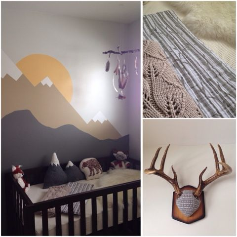 The homemade nursery mountain forest themed nursery for Woods themed nursery
