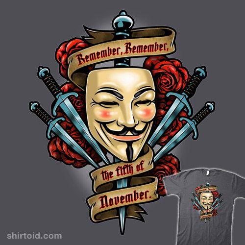 Fifth Of November V For Vendetta Tattoo V For Vendetta Vendetta Tattoo