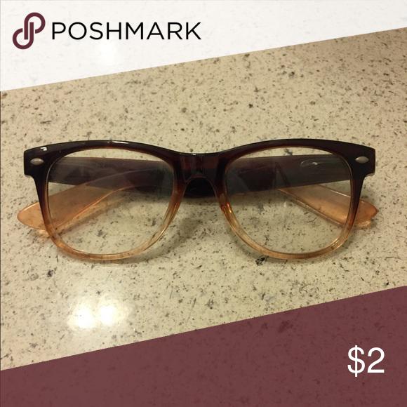 ce24e92629 Non-Prescription Brown Ombré Fashion Glasses Cute gradient glasses  Accessories Glasses