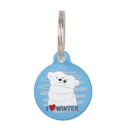 Bear Couple Polar Cute Love Winter Hug Blue Chic Pet Name