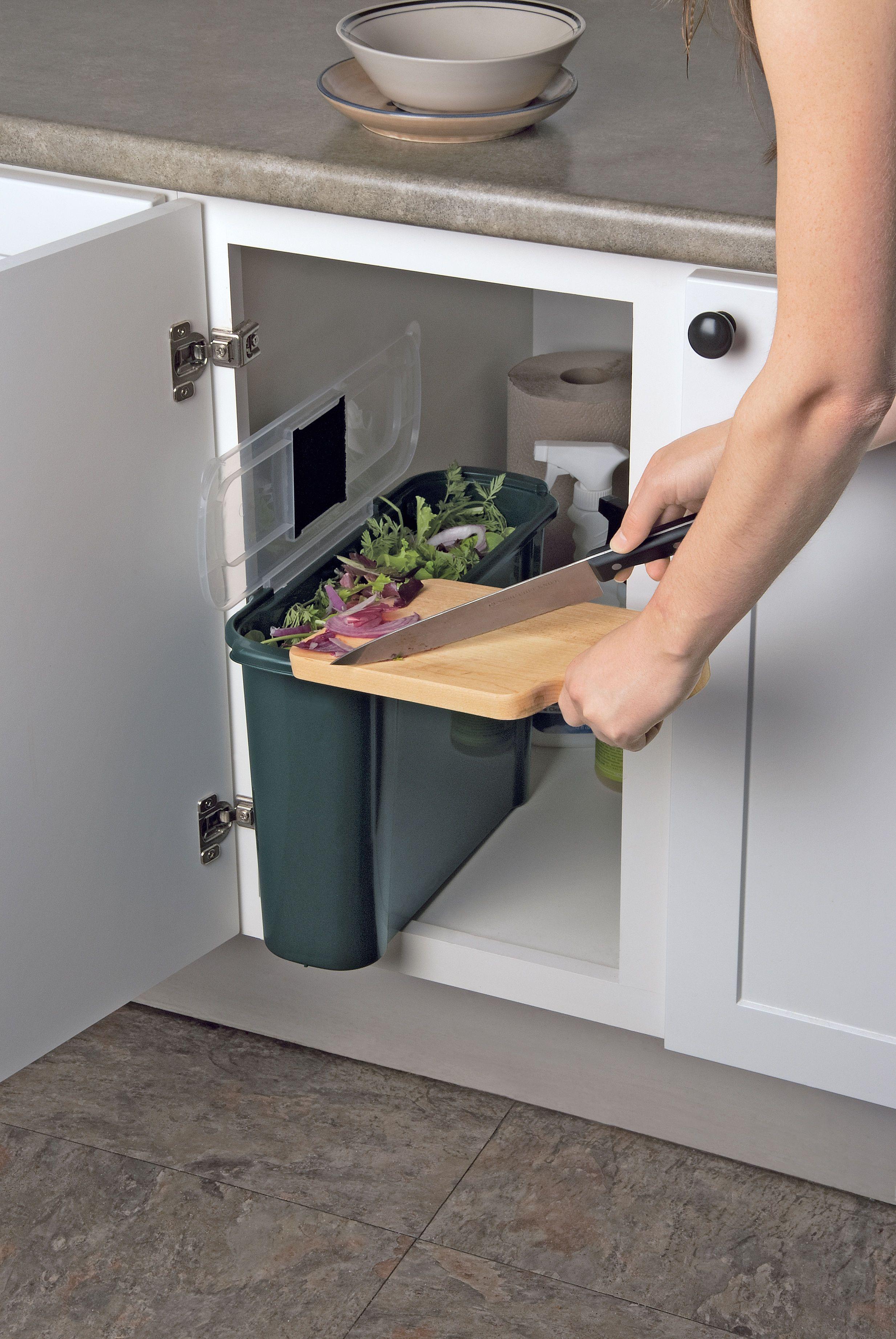 Slimline Compost Caddy Fits Under The Sink