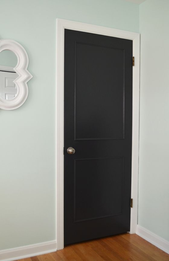 Updating Flat Doors With Trim