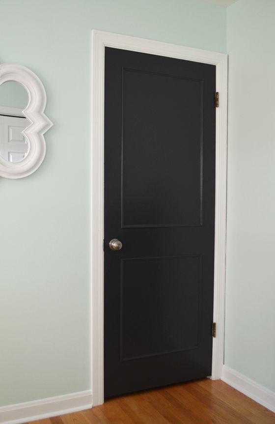 DIY Updating Hollow Core Doors | White Nest | Black interior doors ...