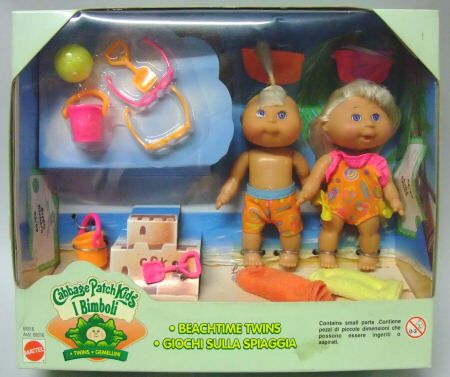 Mattel Cabbage Patch Kids 4 Inch Beachtime Twins 1997 Patch Kids Cabbage Patch Dolls Cabbage Patch Kids