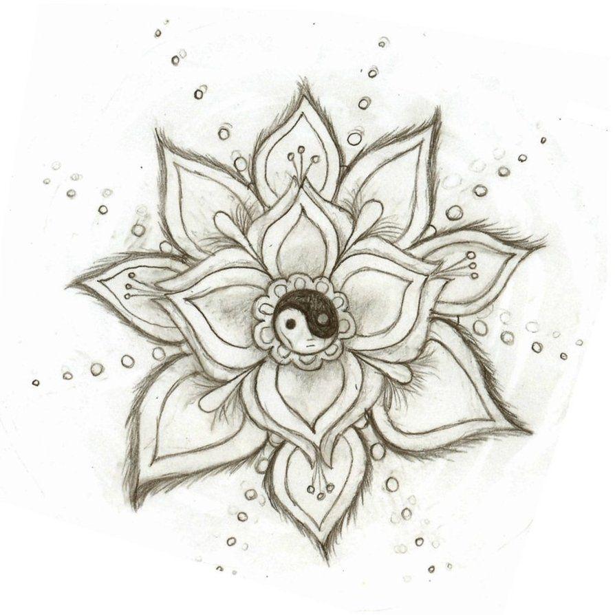 Yin Yang Flower By Skysage Flower Sketches Tumblr Drawings Easy