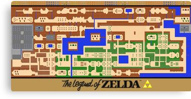 graphic about Printable Legend of Zelda Map identify Legend of Zelda Map Poster - Retro, NES, Well known Recovery