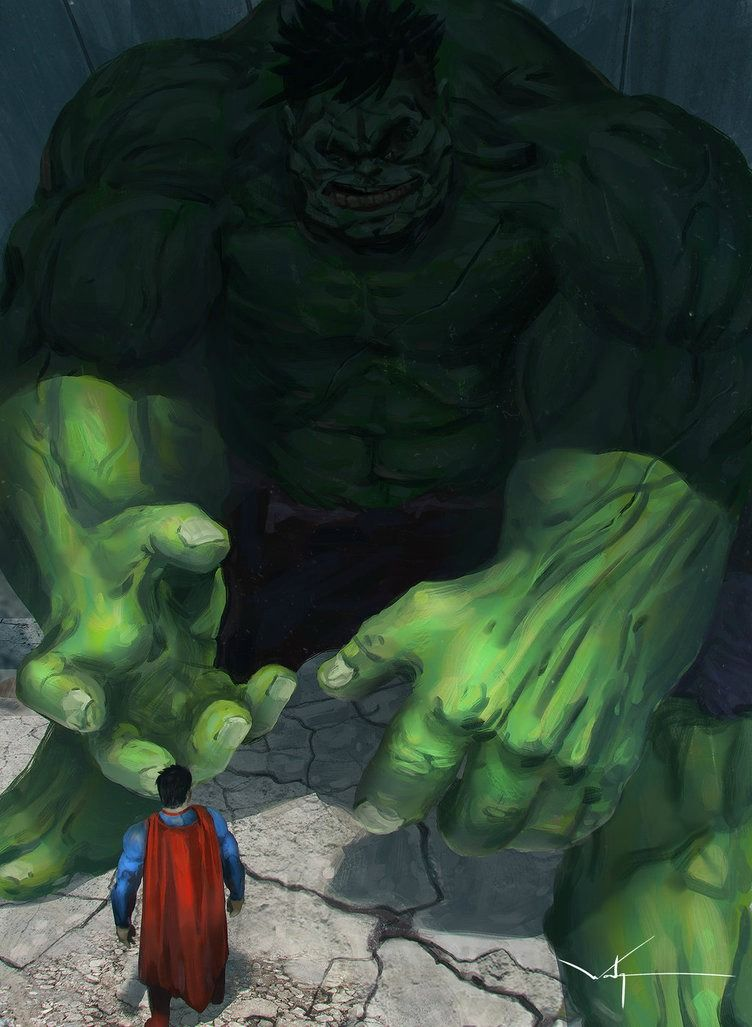 Green Goliath against Big Blue Boy Scout. Superman vs ...
