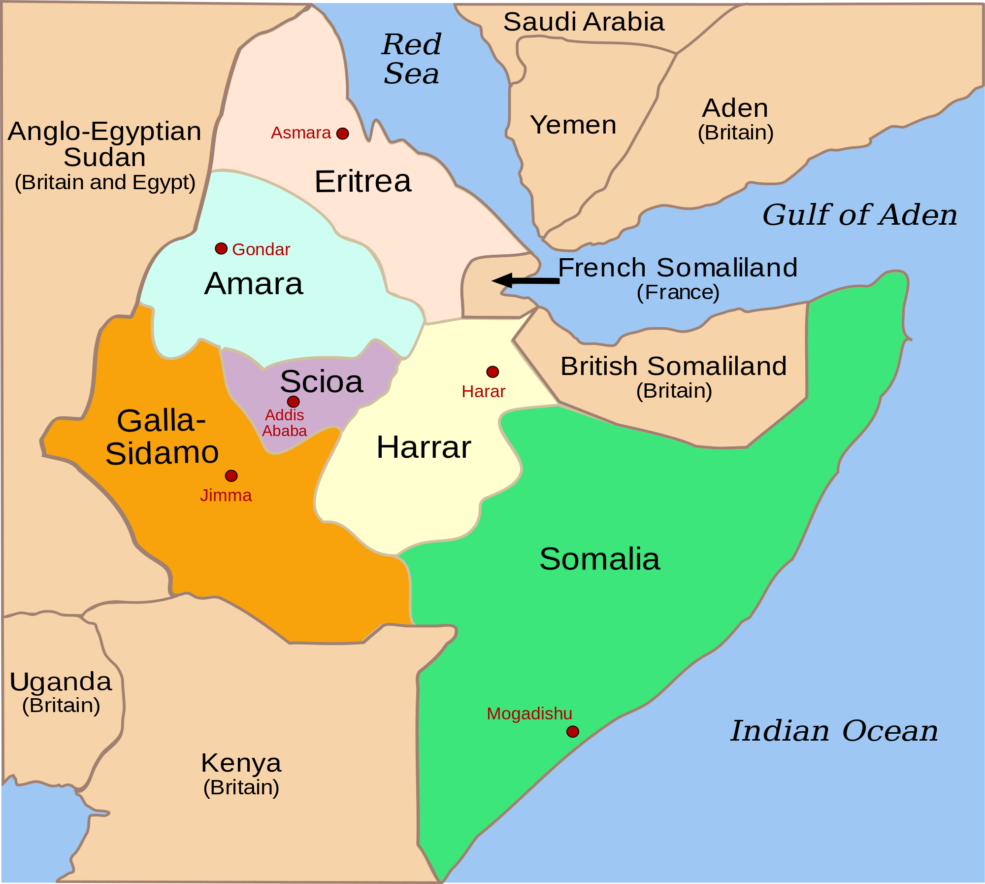 Italy had occupied parts of East Africa since 1936 and by ... on map of africa 1960, map of africa and italy, map of africa 1940, map of africa 1955, map of africa today, map of africa 2014, map of africa east ethiopia, map of africa with kenya highlighted, map of africa 1941,