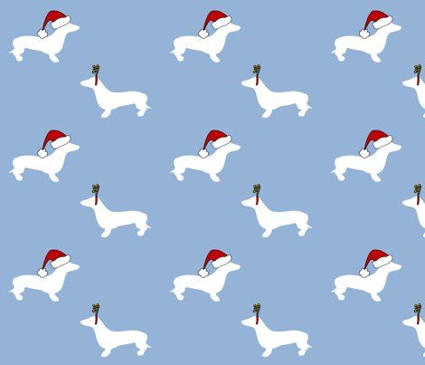 Colorful Fabrics Digitally Printed By Spoonflower Dachshunds For Christmas Dachshund Wallpaper Dachshund Christmas Dachshund Love