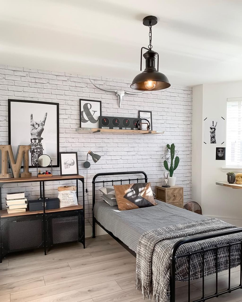 48 Awesome Industrial Style Bedroom Design Ideas Boys Bedroom