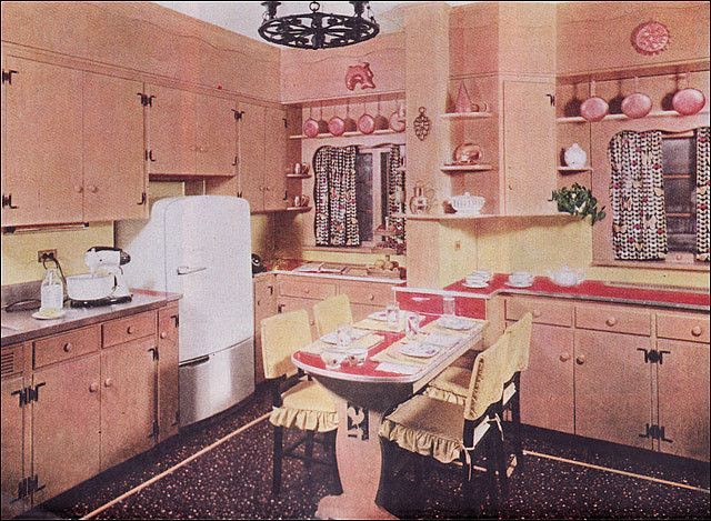 1950s Early American Style Kitchen | Altmodische häuser ...