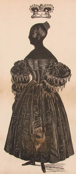 1837, Scherenschnitt von Königin Victoria