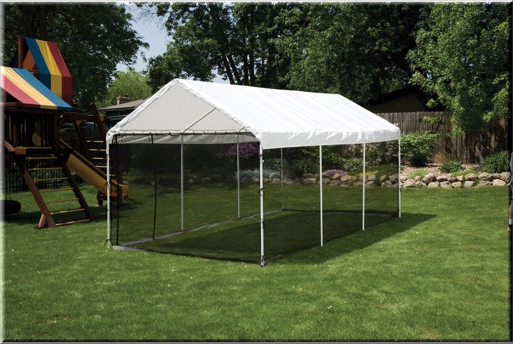 Outdoor Gazebo Canopy Screen Enclosure Kit 10x20 Shelter