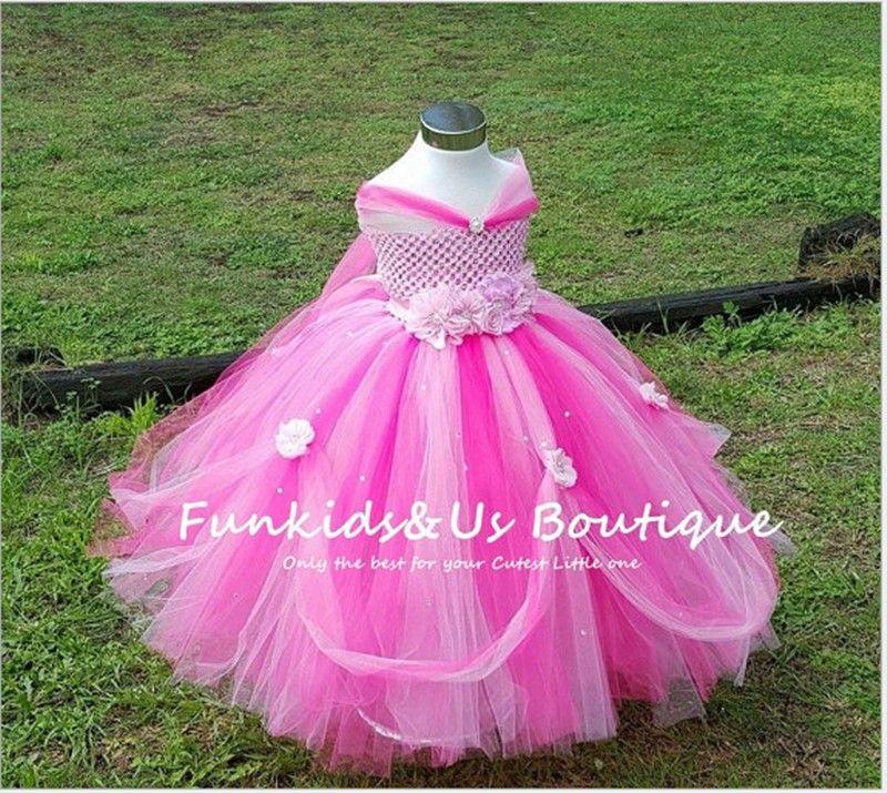 6d34a1fdc49f8 Aliexpress.com  Acheter 1 8Y Princess Tutu Tulle Fleur Fille Robe Enfants  Parti Concours