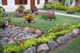 Jardines Con Piedras De Mamposteria Jardines Jardin Con Piedras Decoraciones De Jardin