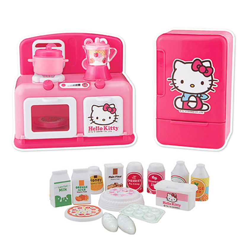 Hello Kitty Mini Kitchen Play Set Cookig Cook Role Pretend Kids