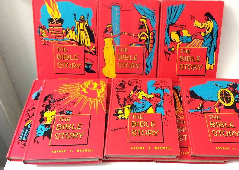 Set of 9 The Bible Story Books Arthur S. Maxwell Young