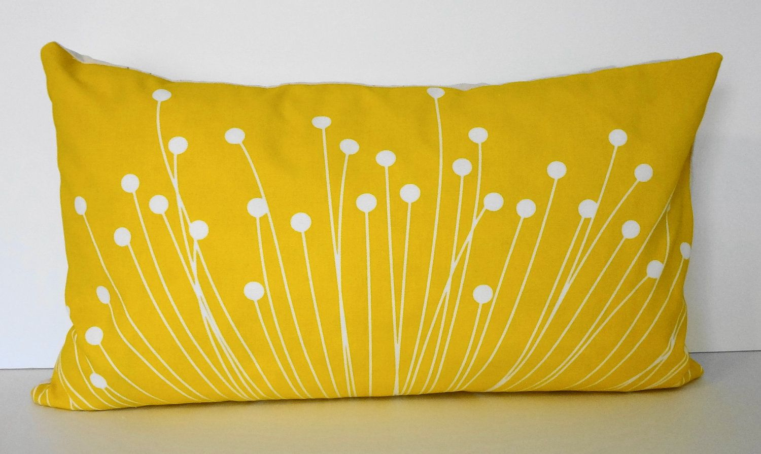 Starburst Yellow Lumbar Pillow Cover Decorative Throw Pillow