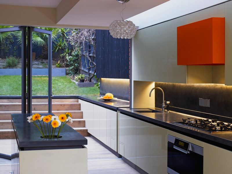 A Continuous Counter Inside Outside Kitchen Inspirations