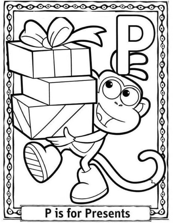 dora birthday coloring pages | Run Free Alphabet Coloring Pages Dora ...