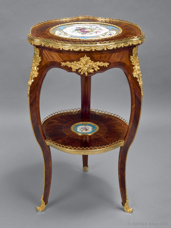 A Kingwood Table Ambulante With Sèvres Style Porcelain Plaques