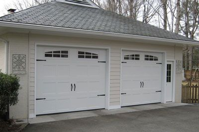 Before After Carport To Garage Garage Doors White Garage Doors Garage
