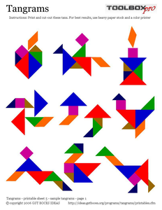 Tangram Investigation Video And Worksheets Tangram Patterns Tangram Printable Tangram