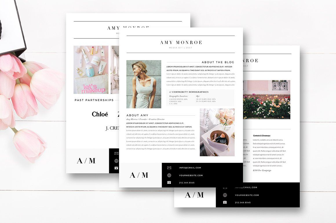 Media Kit Template 4 Page Blogger Media Kit By Stephanie Design Blogger Media Kit Blogger Media Kit Template Media Kit Template 4 to a page template