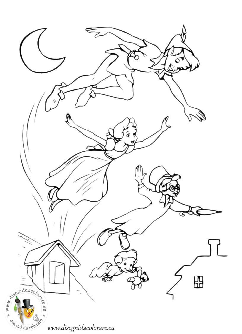 Peter pan peter pan da colorare disegni da stampare for Disegni peter pan