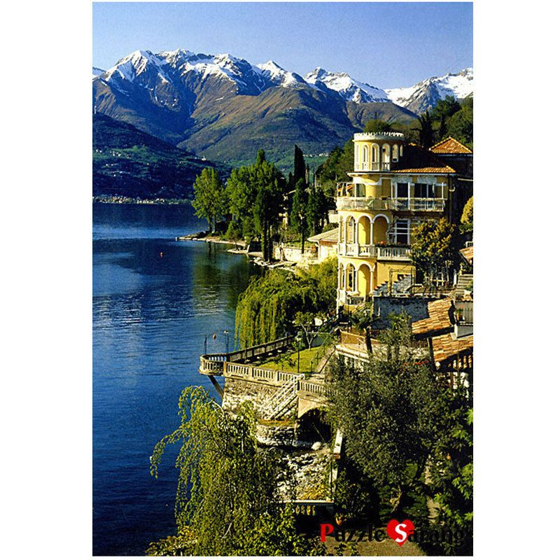 Jigsaw Puzzle 1000 House On the Edge of the Lake Como by KOREA Blue Castle BC531 #BlueCastle