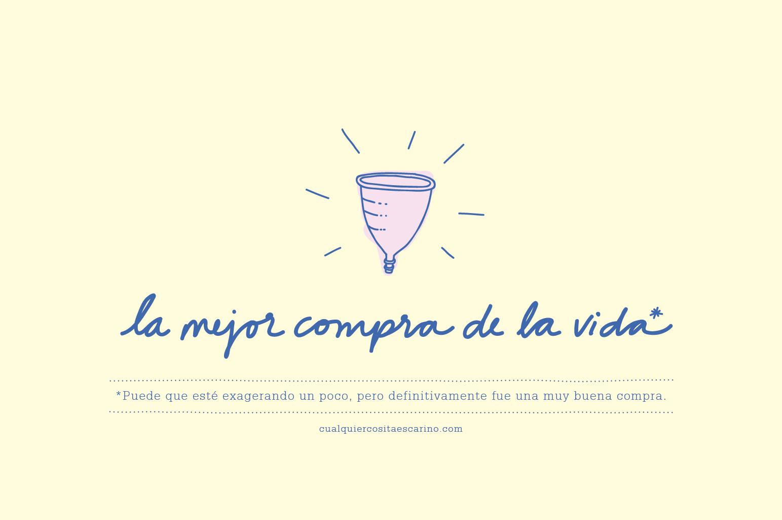 La mejor compra de la vida* www.cualquiercositaescarino.com #copamenstrual #menstrualcup