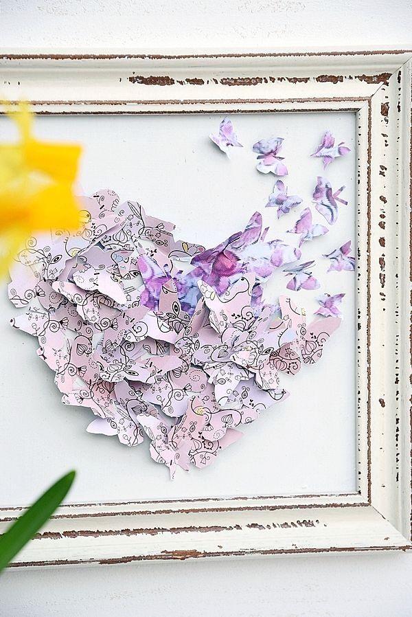 Luxury Die Schmetterlinge sind los diy wanddeko k
