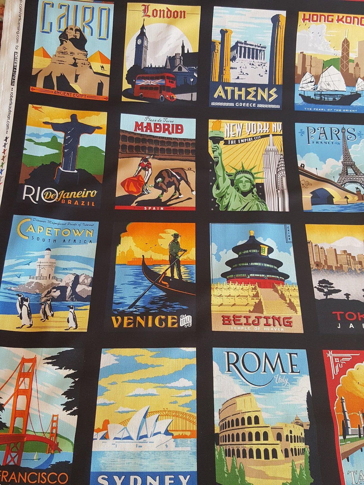 Exotic Travel Quilt Panel &/or Coordinating Fabric, 100% Quilt ... : quilt shops in ri - Adamdwight.com