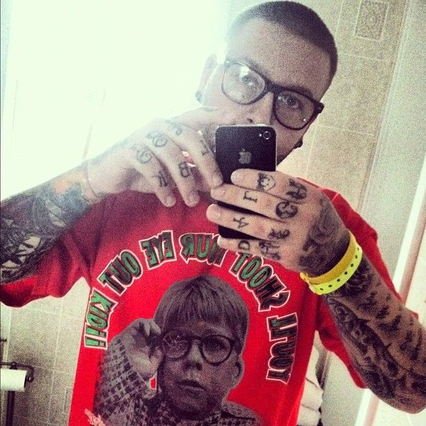 #inkaddict #detroit #swag #tattoo #ralphie #fresh #glasses #rayban @igs_tattooed_studs