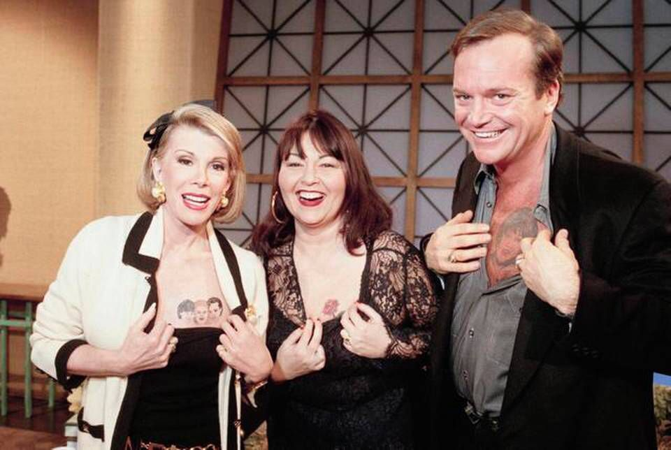 Joan always joking with roseanne and tom arnold now for Tom arnold tattoo