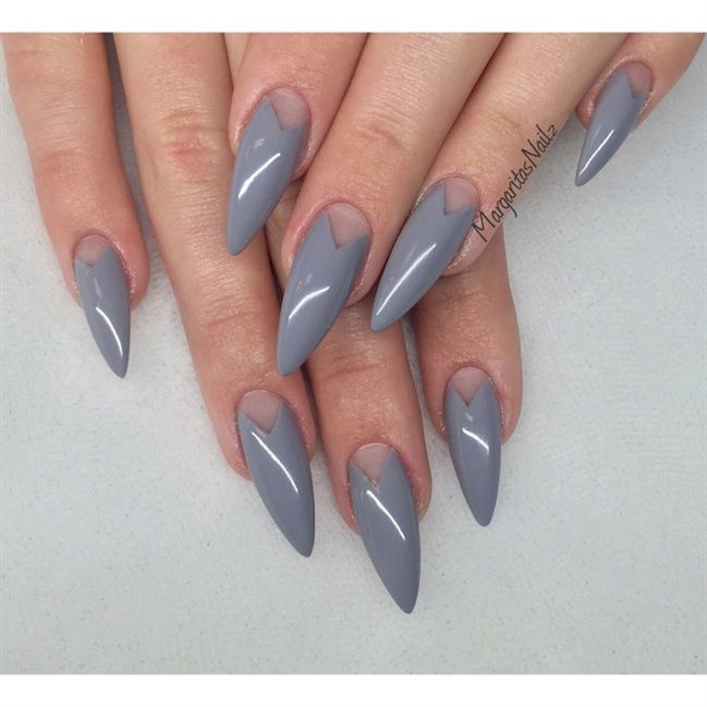 Margaritasnailz428850fg 649649 nails pinterest grey stiletto nails by margaritasnailz from nail art gallery prinsesfo Image collections