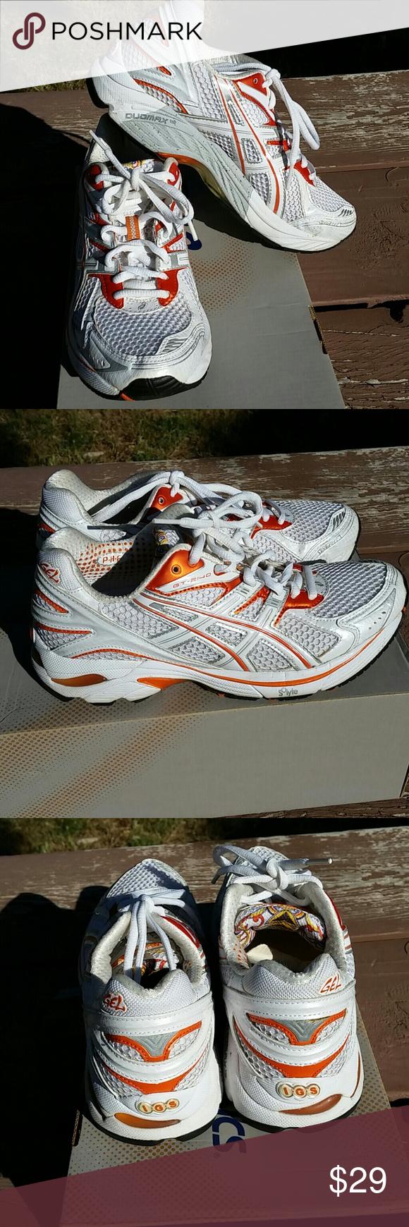 Asics GT 2140 orange white size 7 Very good condition
