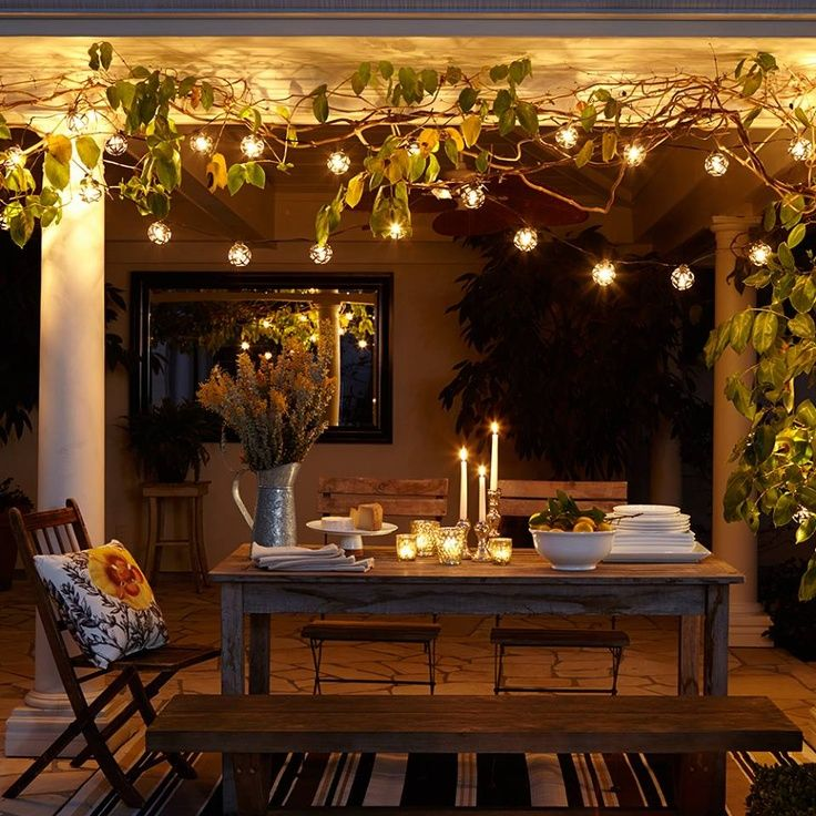 Indoor String Lights Pinterest : Terrace Ambiance with indoor string lighting Terrace/Terrasse Pinterest Indoor string ...
