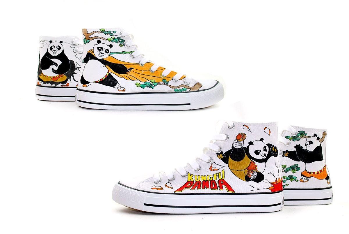 515f2cbe52e6 Kong Fu Panda hand painted shoes www.shoemycolor.com