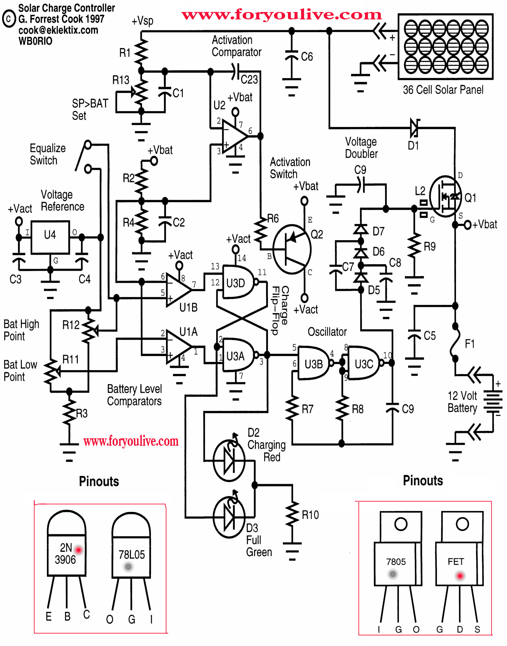solar panel circuit 5volt regulate voltage 2n3906 is transistor for current caring irfz34 power [ 1650 x 2100 Pixel ]