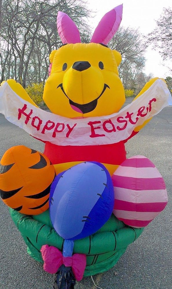 Easter Gemmy DISNEY Winnie The Pooh Airblown Inflatable 6u0027 Yard Decor GIANT