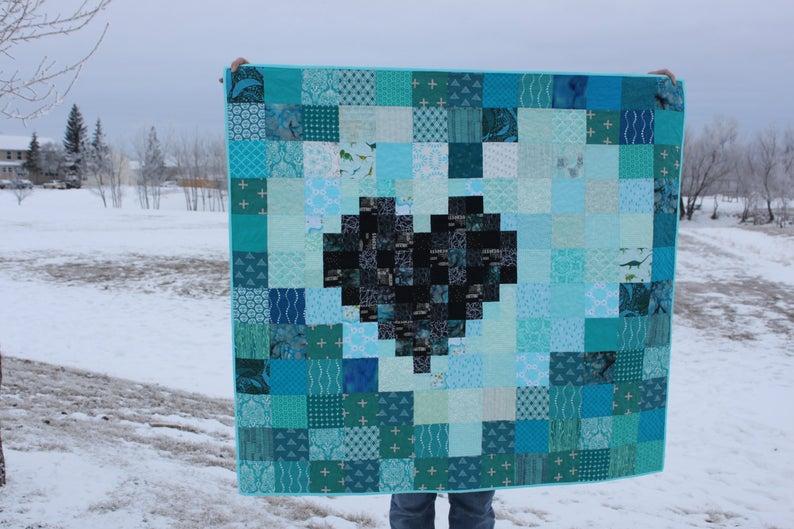 Beginner Quilt Pattern Charm Square Quilt Scrap Buster Quilt Pattern Modern Quilt Pattern Pixel Heart In A Pixel Heart Quilt Pattern Heart Quilt Beginner Quilt Patterns Heart Quilt Pattern