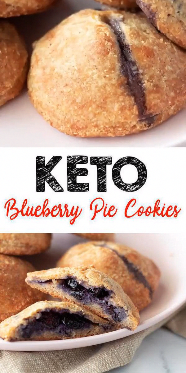 Tasty Keto blueberry pie cookies you CAN NOT stop eating Ketogenic diet  keto friendly low carb cookies This simple ingredient keto recipe is easy to make and super yummy...