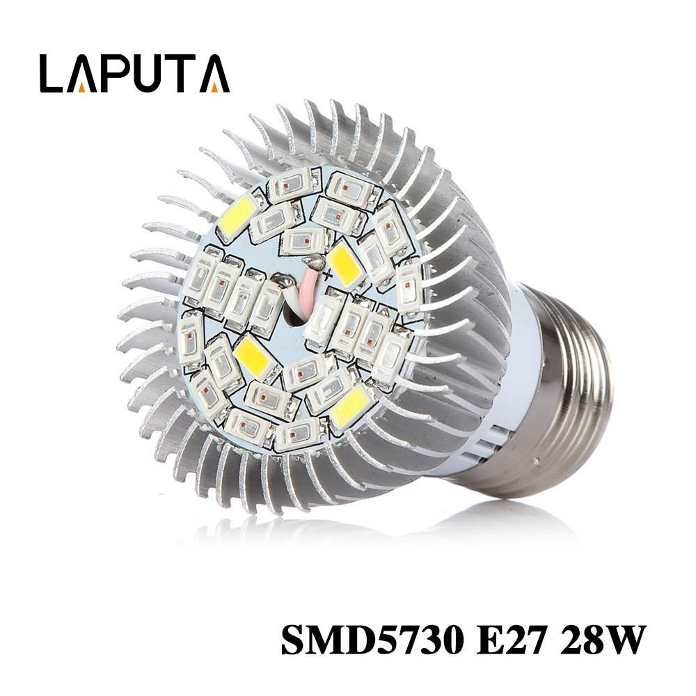 5pcs 28W LED Full Spectrum E27 Led Grow Light Lamp Bulb 28W E27 for ...