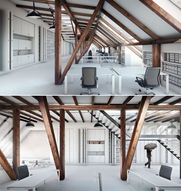 LOFT  Office Space In Aarhus/ Denmark By Konrad Wójcik, Via Behance