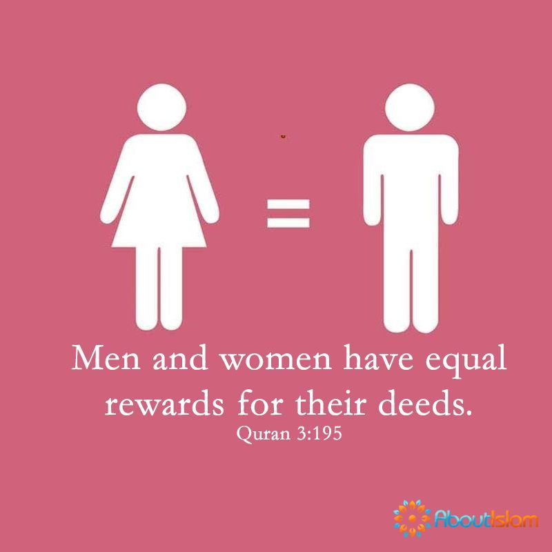Men Are Not Superior To Women We Will Get Equal Rewards For Our Deeds Allah Said So Islamic Quotes Quran Faith