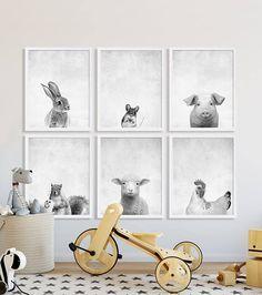 Animal Nursery Prints Large Art Modern Decor
