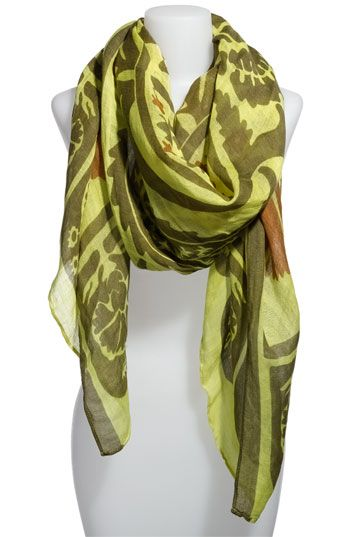 "Theodora and Callum ""Fiji Scarf"" - large lotus design - cool colors too - LMP"